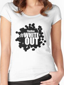 #Whiteout (Inverse) Women's Fitted Scoop T-Shirt