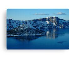Crater Lake Winter Landscape Canvas Print