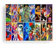 80s Totally Radical Cartoon Spectacular!!! Canvas Print