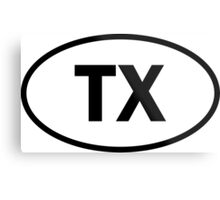 Texas - TX - oval sticker and more Metal Print