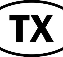 Texas - TX - oval sticker and more by welikestuff