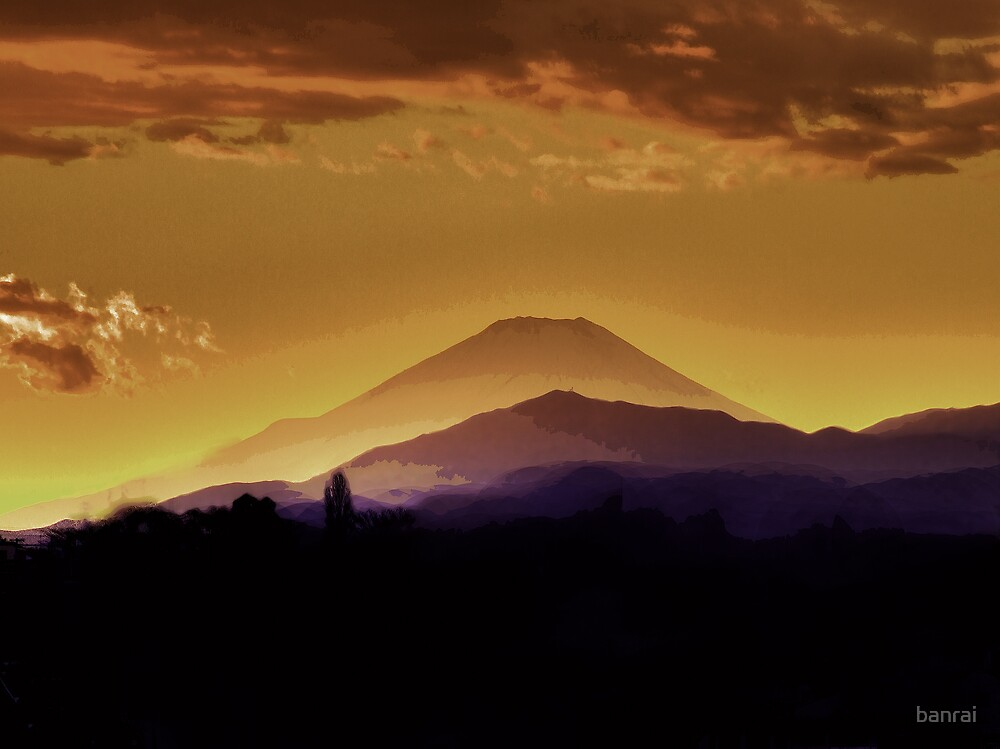 Fuji.... an abstract point of view by banrai