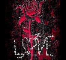 Love Rose on Black by Artondra Hall