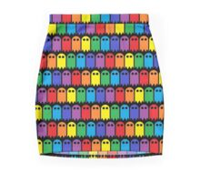 Mini Ghost Army! - Rainbow Mini Skirt