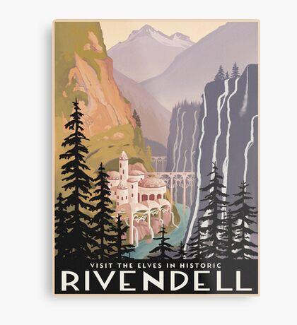 Fantasy valley travel poster Metal Print