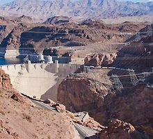 Into the Hoover Dam from Nevada by Henry Plumley