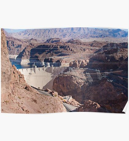Into the Hoover Dam from Nevada Poster