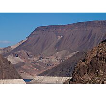 Mountains Before Hoover Dam Photographic Print
