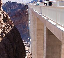 Side View of the Mike O'Callaghan - Pat Tillman Bridge by Henry Plumley