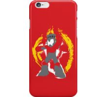 Robot Master Fire Man Vector Design iPhone Case/Skin
