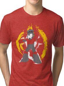 Robot Master Fire Man Vector Design Tri-blend T-Shirt