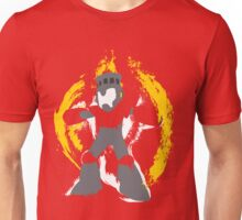 Robot Master Fire Man Vector Design Unisex T-Shirt