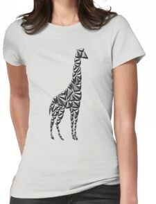 Metallic Giraffe Womens Fitted T-Shirt