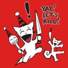 Squirrel and Cat Funtime Let's Kill Tee by InsectsAngels