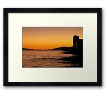 West Vancouver Sunset Framed Print