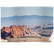 Las Vegas From Red Rock Canyon Poster