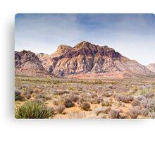Red Stripe Mountain Canvas Print