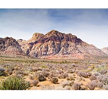 Red Stripe Mountain Photographic Print