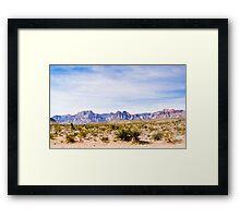 Wide Landscape of Red Rock Canyon Framed Print