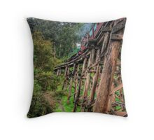 Puffing Billy Crosses the Trestle Bridge  Throw Pillow