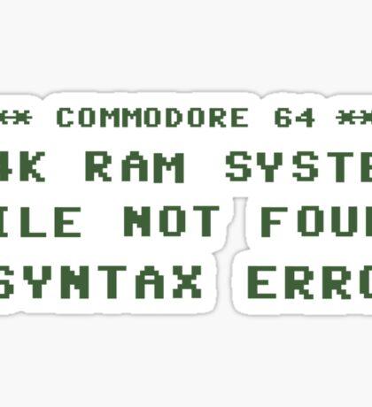 Syntax Error Sticker