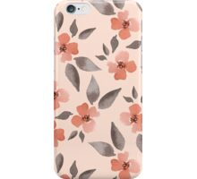 Blossom. Watercolor floral background. Seamless pattern iPhone Case/Skin
