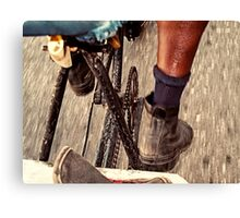 Bicycle taxi Canvas Print