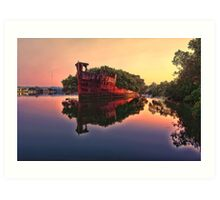 Shipwreck @ Homebush Bay Art Print