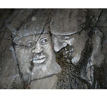 Faces on Rock I Photographic Print