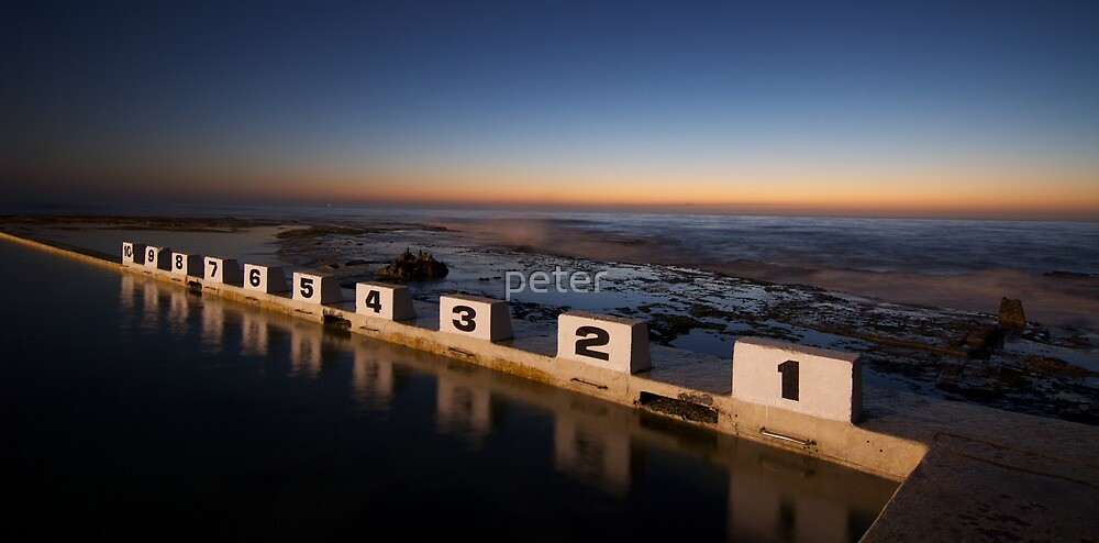 Merewether Ocean Baths at Dawn by peter