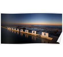 Merewether Ocean Baths at Dawn Poster