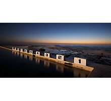 Merewether Ocean Baths at Dawn Photographic Print