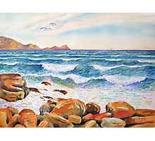 The Sea off St James, Cape Town, South Africa Photographic Print