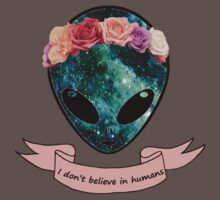I don't believe in humans Baby Tee