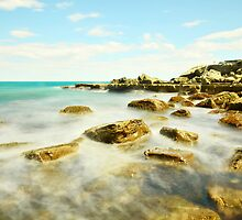 Misty Blue - Forresters Beach by Jacob Jackson