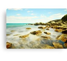 Misty Blue - Forresters Beach Canvas Print
