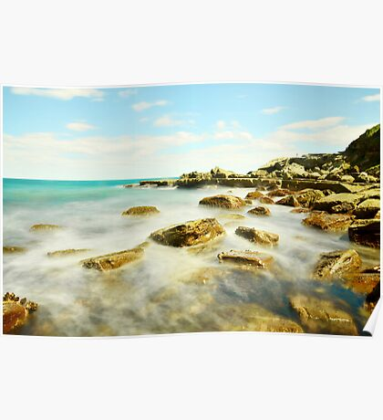 Misty Blue - Forresters Beach Poster
