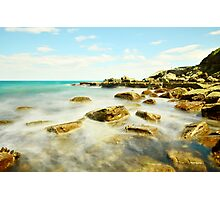 Misty Blue - Forresters Beach Photographic Print