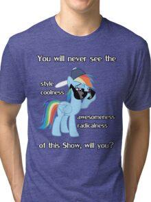 Rainbow Dash Style Tri-blend T-Shirt