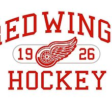 Red Wings Hockey by SallyDunfee