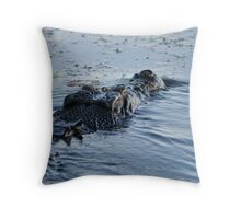 Salt water crocodile Throw Pillow