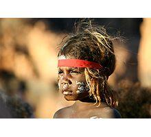 Aboriginal girl Photographic Print