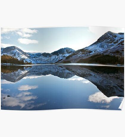 Winter reflections in Buttermere Poster