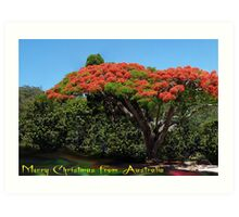 Merry Christmas from Australia Art Print