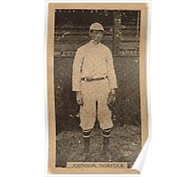 Benjamin K Edwards Collection Johnson Norfolk Team baseball card portrait Poster