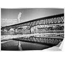 Peace River Bridge in HDR Poster