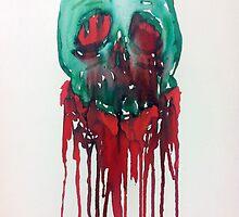 Bleeding Skull by Fiona Allan Photography
