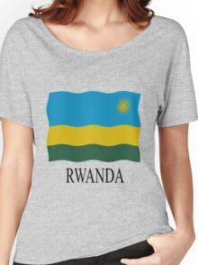 Rwanda flag Women's Relaxed Fit T-Shirt