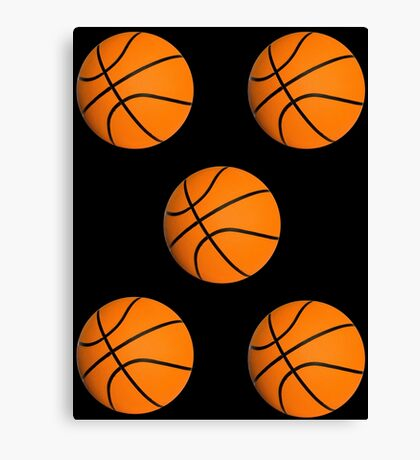 Basketball stickers Canvas Print