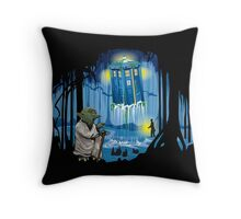 May the Tardis be with You Throw Pillow